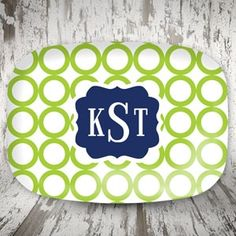 New Items from Mad For Monograms! Monogrammed Melamine Platter