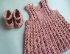 Bild 8 Knit Baby Dress, Baby Knitting, Crochet Top, Knitting Patterns, Turtle Neck, Popular, Cute, Sweaters, Tops