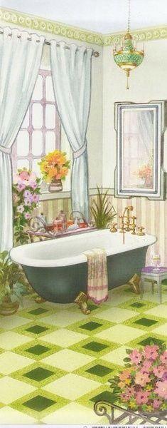Copy Illustrations, Illustration Art, Bathroom Art, Bathrooms, Bathroom Prints, Creation Art, Splish Splash, Art Themes, Bible Art