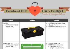The Adventures of Library Girl: BreakoutEDU On A Budget