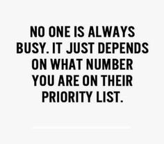 And if you're low on that list, put them low on yours. You do not need to be there for them if they are not there for you! -CC
