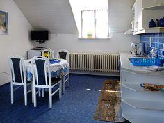 ubytování v podkroví pro 4-6 osoby s balkonem - 35m2 Omega, Table, Furniture, Home Decor, Pictures, Decoration Home, Room Decor, Tables, Home Furnishings