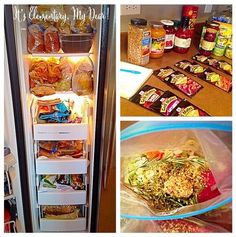 Make-ahead freezer meal prep. TONS of tips for freezer meals @ It's Elementary, My Dear!