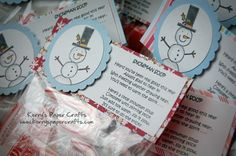 #Snowman Soup...Cute Party #Favor For Your Holiday Ladies' Night Party.  Click Here For More #Party Ideas. http://www.pureromance.com/ashleyserafin#party