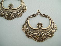 Art Deco antique gold Vintage style Brass Filigree by buildforfun, $3.95
