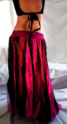 red and black satin pantaloons