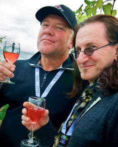 Alex Lifeson and Geddy Lee