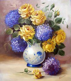 Rosas no vaso