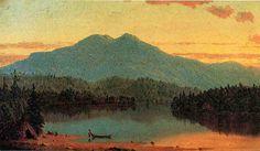 Indian Crépuscule, huile sur toile de Sanford Robinson Gifford (1823-1880, United States)