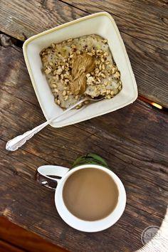 Whipped Banana Oatmeal #Vegan #Breakfast