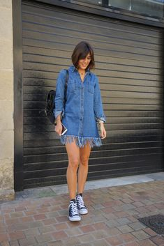 Robe denim destroy - Milovely Blog