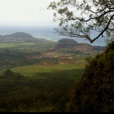Waianae Valley from Mt. Ka'ala peak