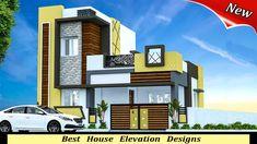 best double floor designs _ home creators Single Floor House Design, House Front Design, Small House Design, Floor Design, House Ceiling Design, Duplex House Design, Building Elevation, House Elevation, Bungalow