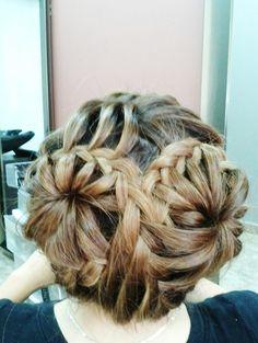 Circle Flower Hair Braid
