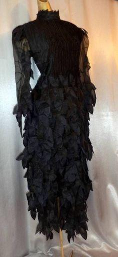 Drama Queen 80s Vintage Gothic Glam Black Cocktail Dress Gown Med | eBay