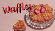 Polymer Clay Tutorial; Heart Shaped Waffles + Strawberry Cane