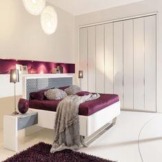 Schlafzimmer Design Farben Lila