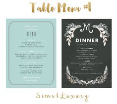 Sims4Luxury: Table Menu 1 • Sims 4 Downloads