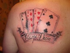 playing card tattoo ideas | playing cards with script « The Tattoo Shop - UK Tattoo Forum
