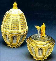 (3) FABERGE eggs__Theo ___Fabergé, Enlighten the People Egg,most expensive faberge eggs - Google Search