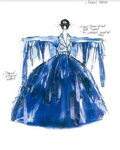 The denim is the key element of this dress designed by @diesel for @melissasatta  the Eagle of the 2017 Venice Carnival. Thousands of denim layer fringed in several shades and overlaid on blue tulle layers turn Melissa into a beautiful butterfly that flies above Piazza San Marco. In order to give a rock touch in addition to the imposing skirt the look is completed with a biker denim jacket with fringed details on the sleeves. #latepost #Diesel #VeniceCarnival #PiazzaSanMarco #MellisaSatta…