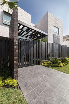 Newest Modern House Design Ideas Home Exterior Decorating Ideas Decorative Modern Entrance Gate Ideas  2016 by http://www.rowcdesign.com/modern-entrance-gate-designs-for-front-of-house-landscape-ideas/exquisite-modern-house-design-with-black-entrance-gate-ideas-for-frontyard-landscape-ideas/