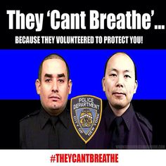 These are the two cops who were murdered execution style as they sat in their patrol cars yesterday by a #racist coward because they were cops! #TheyCantBreathe