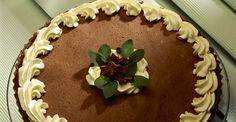 Tarta espumosa de chocolate.