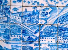 I think this wonderful map-of-Lisbon-in-tile is in the Museu do Azulejo.