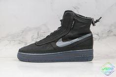 Nike Air Force 1 Shell Black Dark Grey