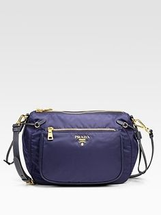 Prada - Tessuto & Saffiano Messenger Bag - Saks.com - StyleSays