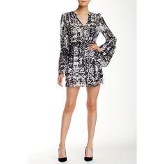Parker Shore Dress ($80) ❤ liked on Polyvore featuring dresses, gazette, long white dress, white dress, long dresses, bell sleeve dress and white layered dress
