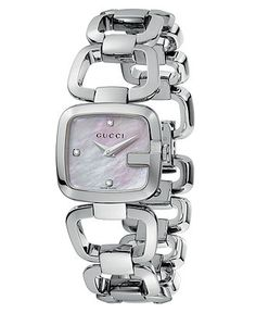 Gucci Watch, Women's Swiss Stainless Steel Bracelet 25mm YA125502 - Gucci - Jewelry & Watches - Macy's