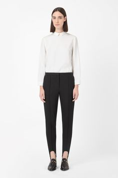 Cotton stirrup trousers