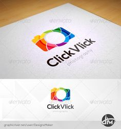 Multicolor Click Vlick - Photography Logo Design