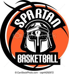 Vector - spartan basketball - stock illustration, royalty free illustrations, stock clip art icon, stock clipart icons, logo, line art, EPS picture, pictures, graphic, graphics, drawing, drawings, vector image, artwork, EPS vector art