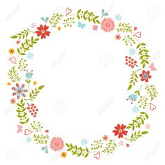23762666-Elegant-floral-wreath-Ideal-for-wedding-cards-and-birthday-wishes--Stock-Vector.jpg (1300×1300)