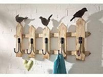 Home affaire Garderobe »Zaun mit Vögeln«