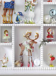 Add whimsical fun to your Christmas display with the Patience Brewster Blitzen's Tree Dash Away Elf Characters that boast unique and intricate details your guests are sure to love.