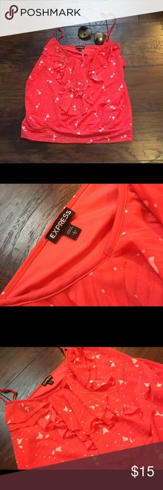 Express tank Coral tank light weight lined on the inside very flattering size large smoke and pet free home Express Tops Tank Tops