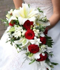 Wedding bouquet. Beautiful, love the lillies