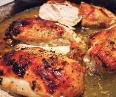 Lemon Roasted Chicken, Roasted Chicken Breast, Baked Chicken, Split Chicken Breast, Chicken Breasts, Food Network Recipes, Cooking Recipes, Healthy Recipes, Lemon Recipes