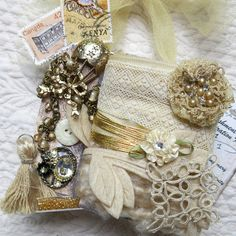 Embellishment Inspiration Kit ...Light Beige ... by GypsyFeather