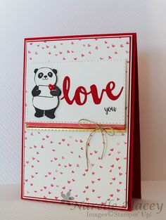 Love this little Panda from the Panda Party Stamp set from Stampin'Up!