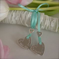 Personalised Silver Wedding Bouquet Charms - not on the high street