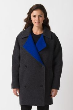#Lacoste #Fashion Show Double Face Reversible Wool #Coat