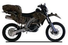Полноприводный мотоцикл Christini AWD 450 Military