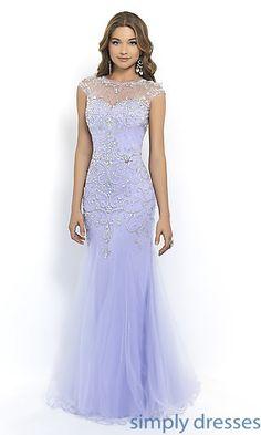 Floor Length High Neck Dress by Blush at SimplyDresses.com