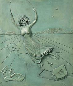 Salvador Dali. Woman with a head of roses , 1977.