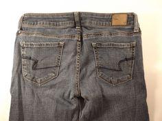 American Eagle Skinny Lowrise Stretch Denim Womens Blue Jeans Size 4 | eBay